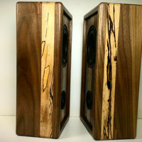 """The """"Dynamic Duo"""" Reclaimed Wood Bluetooth Stereo Speakers w/ Tap to Pair for iPhone, iPod, iPad, tablet, smartphone Free Shipping lower 48"""