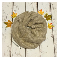 """Always My Style"" Cozy Soft BIG Khaki Tan Infinity Scarf"