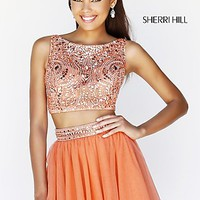 Short High Neck Two Piece Party Dress by Sherri Hill