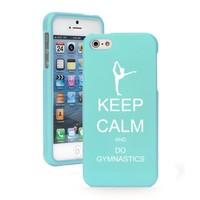Apple iPhone 5c CH280 Light Blue Rubber Hard Case Snap on 2 Piece Keep Calm and Do Gymnastics