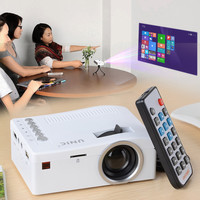 UC18 1080P Portable Mini LED Projector  USB   HDMI   AV   TF Slot - White
