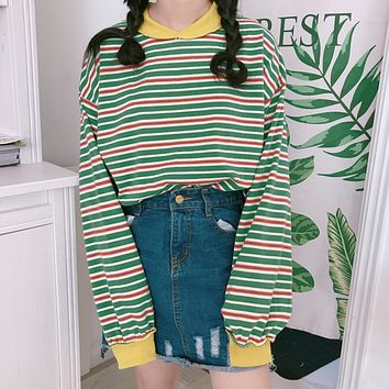 Striped Long Sleeved T-Shirt
