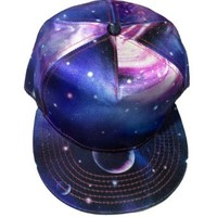 W&Hstore Galaxy Space Print Hit Hop Cap Snapback Trucker Hat (16BLUE)