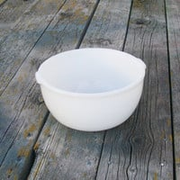 Vintage Glasbake Mixing Bowl Made for Sunbeam Stand Mixers