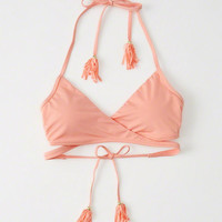 Womens Wrap Front Triangle Top | Womens Swimwear | Abercrombie.com