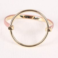 Circular Accent Hinge Bangle Bracelet