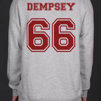 Dempsey 66 Maroon Ink on Back Greys Anatomy Unisex Crewneck Sweatshirt