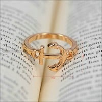 Hot Fashion Cute Anchor Rings Jewelry Rings Friendship Gift US 6.5