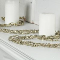 Platinum Sparkling Bead and Glitter Garland - Table/Shelf Decorations - Christmas and Winter - Holiday Crafts