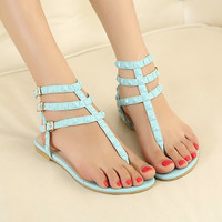 Candy Color Sandals with Cute Studs for Women S061621