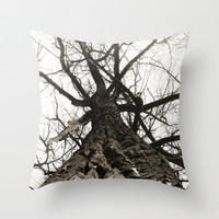 cottonwoods Throw Pillow by holli zollinger
