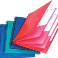 Esselte Oxford Poly 8-Pocket Folder - Letter Size - 9.1 x 10.6 x 0.4 (Colors may Vary)