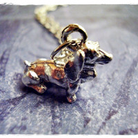 Silver Dachshund Necklace - Silver Pewter Dachshund Charm on a Delicate 18 Inch Silver Plated Cable Chain