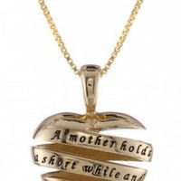 """Yellow Gold Flashed """"A Mother Holds Her Childs Hand.."""" @ Jewelry Wonder"""