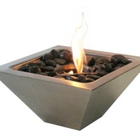 Stainless Steel Wall Mount Fireplace from Anywhere Fireplace