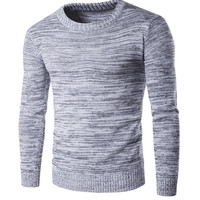 New Brand Men Wool Sweater Autumn Winter O-neck Thick Kintwear Pullover Christmas Mens Sweaters High Quality