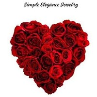 Red Rose Valentine Heart Snap Charm 20mm
