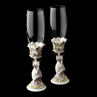 Opentip.com: Elegance by Carbonneau FL-100-Sweet-15-Purple Purple 'Sweet 15' Girl Wedding Toasting Champagne Flutes