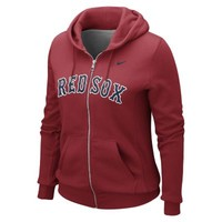 Nike Full-Zip Classic 1.2 MLB Red Sox Women's Hoodie - Red