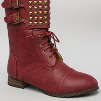*Sole Boutique Boots Titan Boot in Burgundy