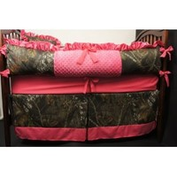 Custom Made Baby Crib Bedding Mossy Oak break up camo hot pink