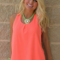 Twisted Ways Neon Tank Top · Haute Pink
