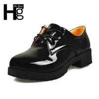 HEE GRAND 2016 Vintage Round Toe Women Oxfords Flat Shoes Korean PU Leather Platform Women Shoes Autumn Ankle Boots XWD848