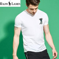 New Ralph lauren Mens Golf Bear Shirt Sleeve T shirt 100% COTTON TOP