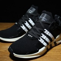 Tagre™ Fashion Adidas Equipment EQT Support ADV Black White Casual Sports Shoes