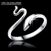cute cool Snake ruby 925 Sterling  Ring jewelry for women R2004
