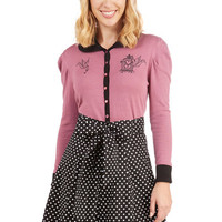 A-line Musee Matisse Skirt in Black Dots