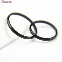 Beiliwol Tail Rings for Women 316L Stainless Steel Black Color Korean Kid Jewelry Men Simple Fashion Accessories Toe Full Size