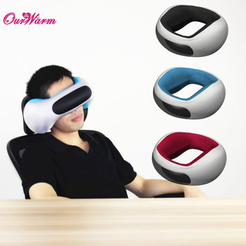 Bluetooth 4.0 Loops Music Travel Pillow Sleep Eye Shield Travel Neck Pillow Sleeping Cushion with 200mAh Rechargeable Battery