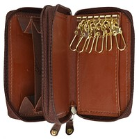 Cow Leather Zippered Key Chain Holder by Marshal Wallet