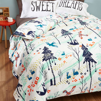 Woods You Tuck Me In? Duvet Cover in Full/Queen | Mod Retro Vintage Decor Accessories | ModCloth.com