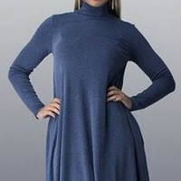 Plus Size Dresses Women Home Dress TurtleNeck Loose Knitted Winter Dress 2XL 3XL Plaid Loose Casual For Chubby Girls Pregnant