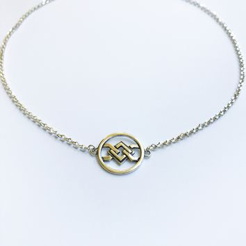 Geo necklace sterling silver