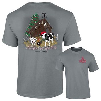 Southernology Heaven and Nature Sing Holiday Comfort Colors T-Shirt