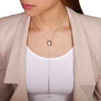 Cameo Necklace Antique Shell Lariat Y Long Necklace