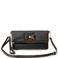 Bow-Embellished Cross-Body Bag by Charlotte Russe
