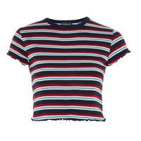 Short Sleeve Striped Lettuce T-Shirt - Side Stripes - We Love