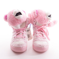 "*NEW* Light Pink Plush ""Teddy Bear"" Sneakers"