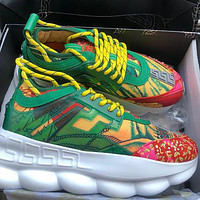 VERSACE chain reaction Multicolor Sneakers Stitching Sports Leisure Shoes Sneakers
