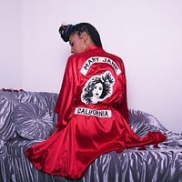 Red Hot Mary Jane Smoking Robe
