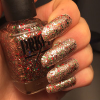 Past and Presents- Handmade Red, Green, and Gold Indie Nail Polish