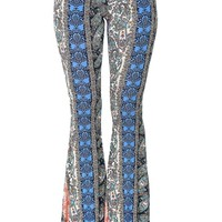 Blue-Printed Bell Bottoms at Blush Boutique Miami - ShopBlush.com