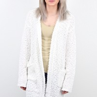 Cozy Wubby Open Cardigan w/ Pockets {Ivory}