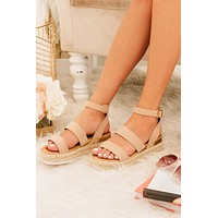 One Step At A Time Platform Sandals (Dusty Pink)
