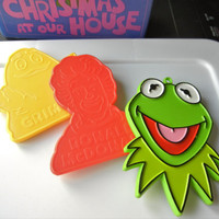 Novelty Cookie Cutters Vintage Kermit the Frog, Grimace, Ronald McDonald The Muppets  (1980s)