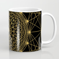 Geometric Circle Black and Gold Mug by Fimbis